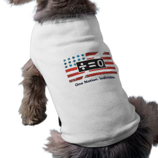 One Nation Doggie Ribbed Tank Top Sleeveless Dog Shirt