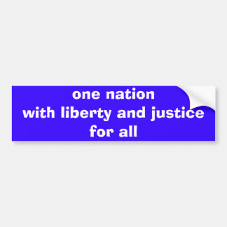 one nation for all bumper sticker