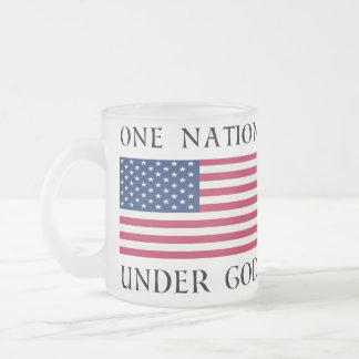 One Nation Frosted Glass Coffee Mug