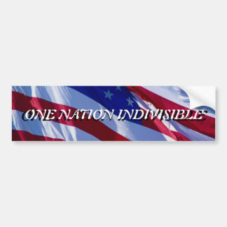 One Nation Indivisible Bumper Sticker