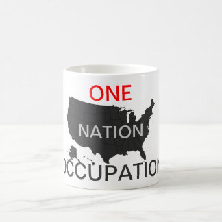ONE NATION OCCUPATION BASIC WHITE MUG