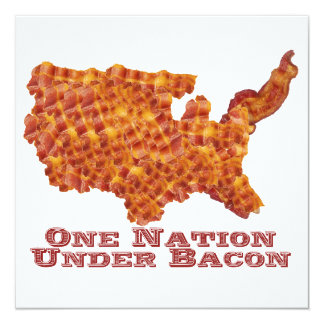 One Nation Under Bacon Invitations