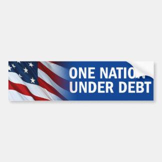 One Nation Under Debt Bumper Sticker