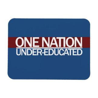One Nation Under Educated Rectangular Photo Magnet
