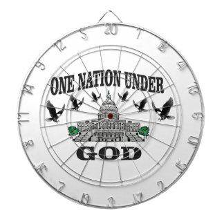 One Nation under god artwork Dartboard