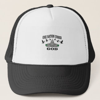 One Nation under god artwork Trucker Hat