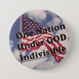 One Nation under GOD Indivisible 7.5 Cm Round Badge