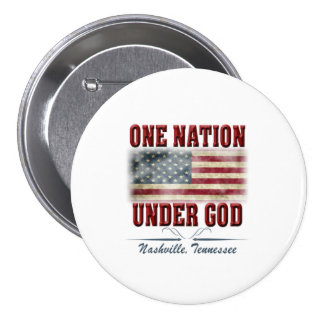 One Nation Under God Large, 3 Inch Round Button
