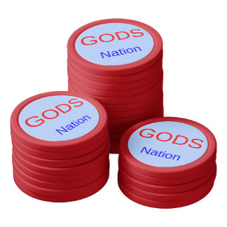 One Nation Under Gods Poker Chip Set