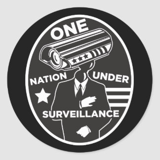 One Nation Under Surveillance Classic Round Sticker