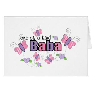 One Of A Kind Baba Card
