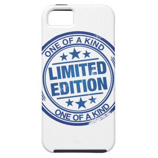 One of a kind -blue rubber stamp effect- iPhone 5 case