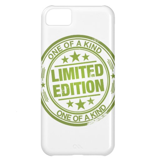 One of a kind -green rubber stamp effect- iPhone 5C cases