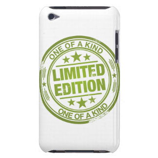 One of a kind -green rubber stamp effect- barely there iPod cases