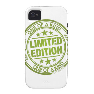 One of a kind -green rubber stamp effect- iPhone 4 covers