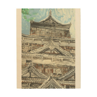 One of a Kind Monotype Print of Hiroshima Castle
