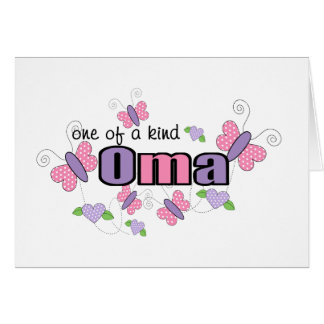 One Of A Kind Oma Greeting Card
