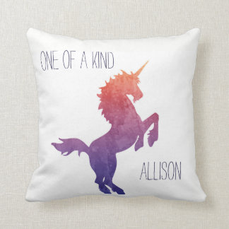 One of a Kind Personalised Watercolor Unicorn Cushion