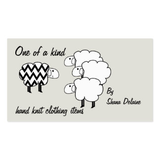 One Of A Kind Sheep Hang Tag Business Cards