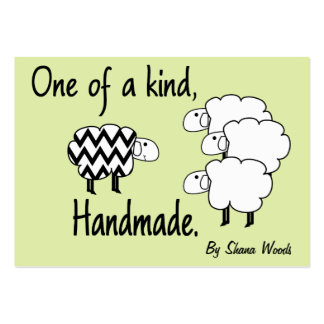 One Of A Kind Sheep Hang Tag Pack Of Chubby Business Cards