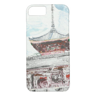 One of a Kind Shintennouji Temple iPhone Case