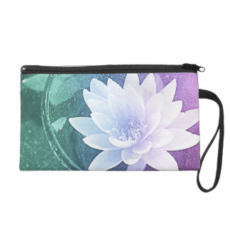 One of a kind waterlilly wristlet