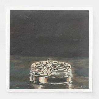 One of a Kind Wedding Ring Dinner Napkins Paper Napkins