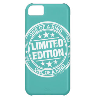One of a kind -white rubber stamp effect- iPhone 5C case