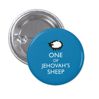 One of Jehovah's Sheep Blue 3 Cm Round Badge