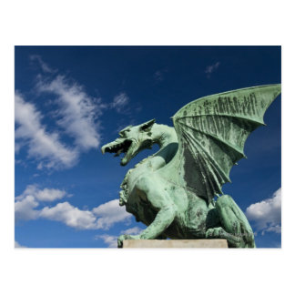 One of the four bronze dragons on the Dragon Postcard