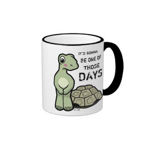 One Of Those Days Cute Tortoise Coffee Mug