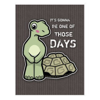 One of Those Days - Cute Tortoise Postcard