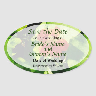 One Orange Nasturtium Save the Date Oval Sticker