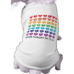 One Orlando One Pulse 49 Hearts Rainbow Pet Sleeveless Dog Shirt