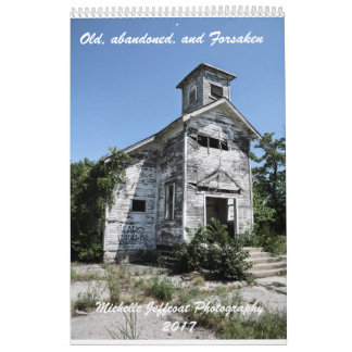 One page 12 month Calendar, old & abandoned things Wall Calendar