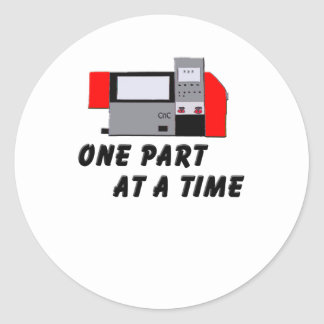 One Part At A Time Classic Round Sticker