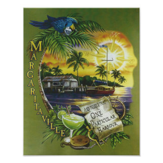 One Particular Harbor Jimmy Buffett Lyrics Poster