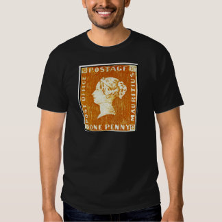 One Penny British Empire Mauritius Postage Stamp Tees