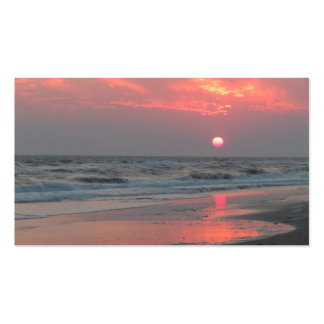 One Perfect Sunset - Oak Island, NC Double-Sided Standard Business Cards (Pack Of 100)