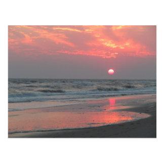 One Perfect Sunset - Oak Island, NC Postcard