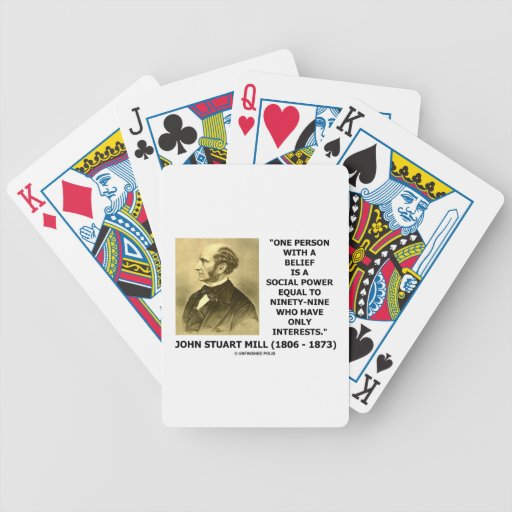 One Person With A Belief Social Power Mill Quote Poker Deck