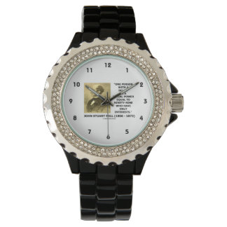 One Person With A Belief Social Power Mill Quote Wristwatches