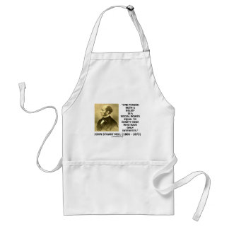 One Person With A Belief Social Power Quote Adult Apron