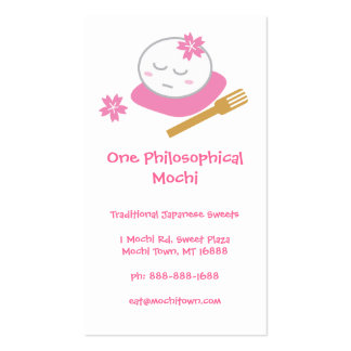 One Philosophical Mochi Business Card