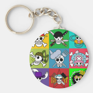 One Piece Flag Straw Hats Key Ring