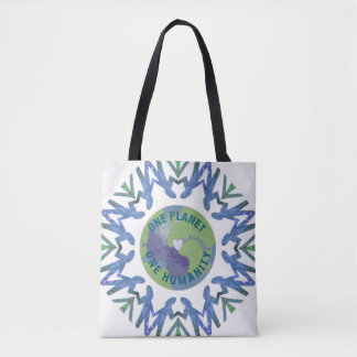 One planet One Humanity Tote Bag