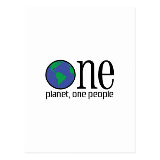 ONE PLANET ONE PEOPLE POSTCARD