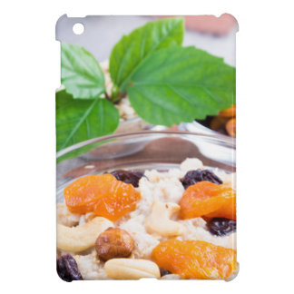 One portion of oatmeal with fruit and berries iPad mini case