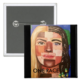 One Race 15 Cm Square Badge