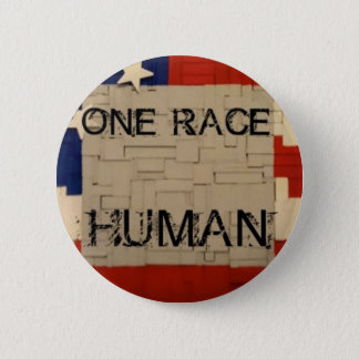 One Race Human 6 Cm Round Badge